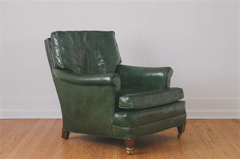 Green Leather Ottoman by Green Leather Chair Ottoman Homestead Seattle