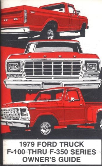 old car owners manuals 1996 ford f series windshield wipe control 1979 ford truck owners manual broncograveyard com