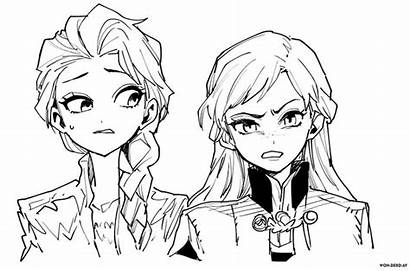 Frozen Elsa Ausmalbilder Anna Colorare Coloriage Colorear