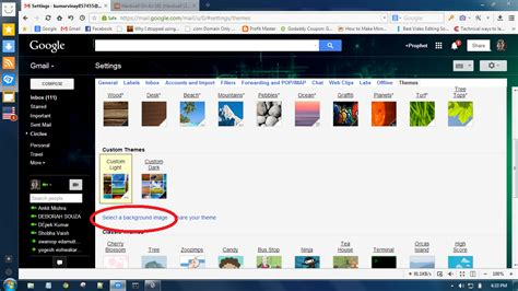 How To Change Your Gmail Background Change Gmail Account Background Picture 99cooltrics