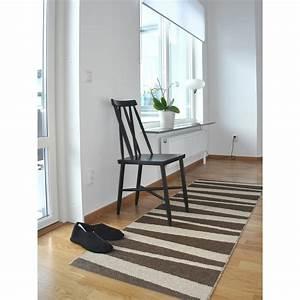 Tapis de couloir are beige et brun sofie sjostrom design for Tapis de couloir avec home spirit housse canapé