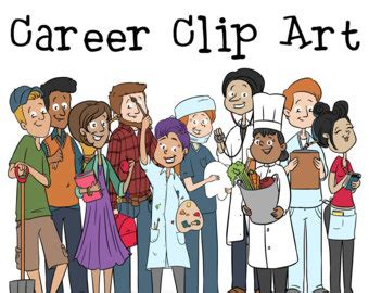 15100 career day clipart clipart etsy