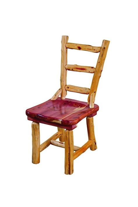 rustic red cedar log dining room chairs set   amish