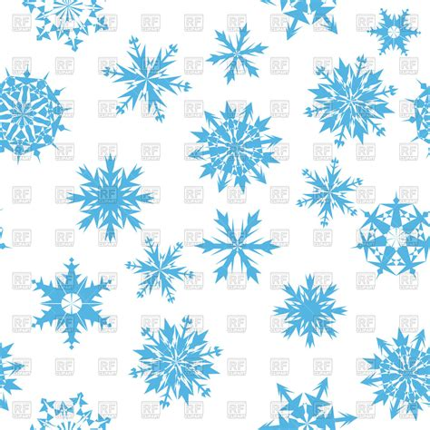 Blue Snowflake Background Clipart by Seamless Blue Snowflakes Background Vector Image Of