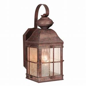 Rustic Lamps: 7-InchRevere Outdoor Wall Lamp Black Forest