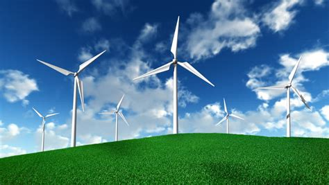 working wind turbines  clouds stock footage video