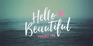 hello beautiful font fontspring