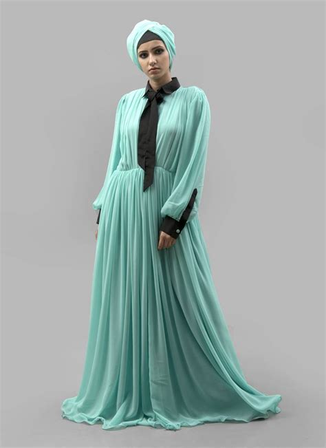 Maxi Arabian gree crepe georgette fabric islamic maxi arabian style