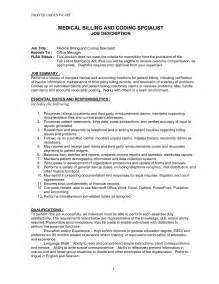 resume for coder and biller doc 644827 coder sle resume insurance biller description bizdoska