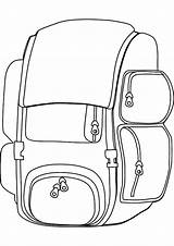 Backpack Coloring sketch template