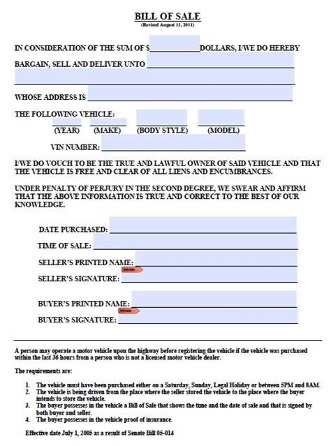 Boat Registration Jefferson County Alabama by Free Colorado Boat Trailer Bill Of Sale Form Pdf Word