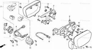 Honda Motorcycle 1997 Oem Parts Diagram For Carburetor Side Cover