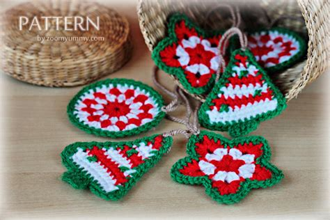 crochet christmas ornaments pattern no 021 171 zoom yummy