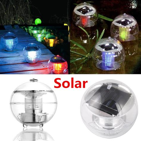 7 colors solar power waterproof color changing led