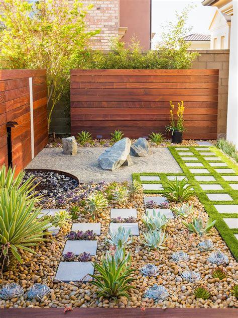 california zen rock garden with ipe wood water feature