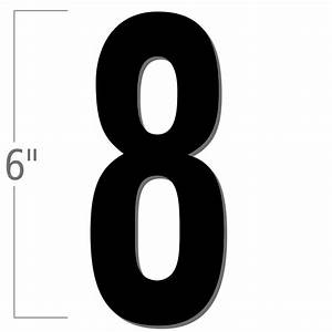 6 inch die cut magnetic number 8 black sku nl mg 6 bk 8 With 6 inch magnetic letters
