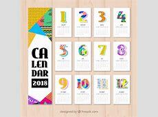 Calendario 2018 para imprimir – 10 vectores gratis