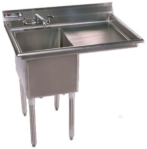 stainless steel utility sink with drainboard one compartment sinks nsf sinks stainless steel sink