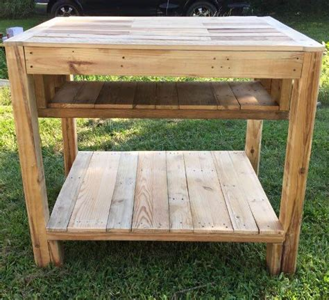 kitchen island table plans reclaimed pallet kitchen island table easy pallet ideas 5176