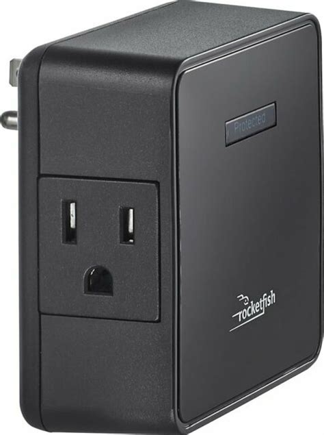 surge protector outlet rocketfish tap power strip guardian cord outlets protection kensington 47db joules 1500 rf box