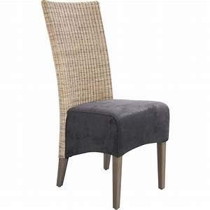 Chaise Rotin Gris : chaise rotin et teck teint gris ~ Teatrodelosmanantiales.com Idées de Décoration