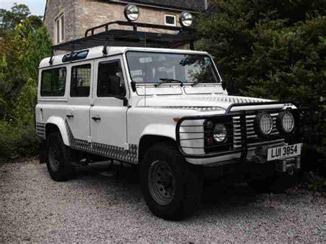 old white land 1989 land rover 110 county defender v8 3 5 litre white old