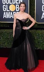 Jessica Biel From 2018 Golden Globes Red Carpet Fashion