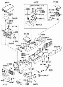 2007 Hyundai Azera Console Rear   Rear  Rr