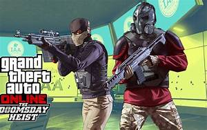Wallpaper Grand Theft Auto V The Doomsday Heist DLC PS4