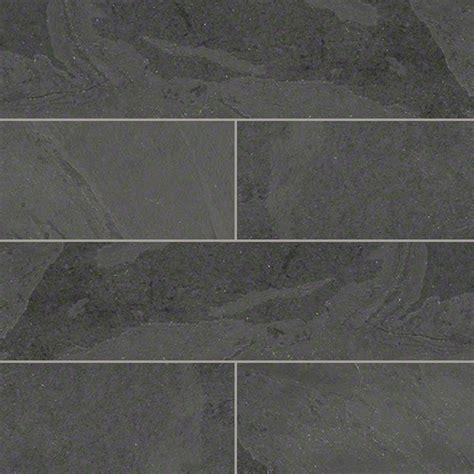 shop houzz tilesbay 12x12 honed montauk black slate tile