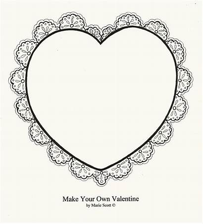 Hearts Flowers Heart Coloring Lace Valentine Dad