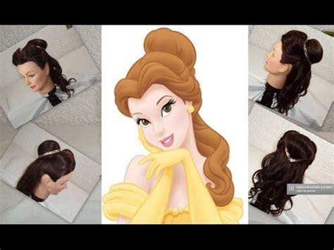 peinado de la princesa bella belle princess hairstyle