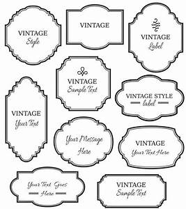 Vintage Labels Clip Art // Digital Frame // Vector EPS