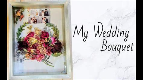 diy  wedding shadow box bouquet youtube