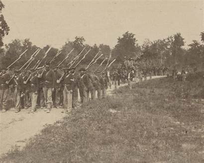 Soldiers Union Marching Infantry Illinois Returning Kentucky