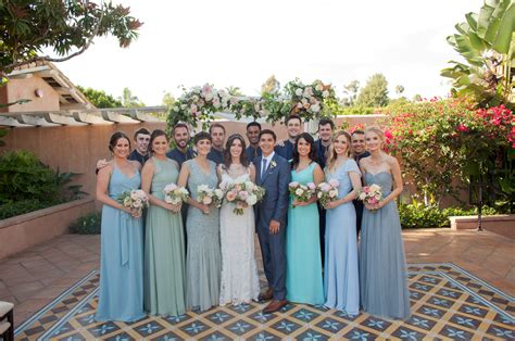 Blue White Wedding At Rancho Valencia Elyse Al