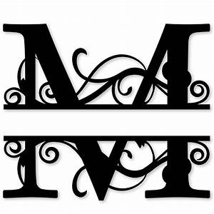 monogram letter die cut vinyl decal pv1320 With letter m monogram stickers
