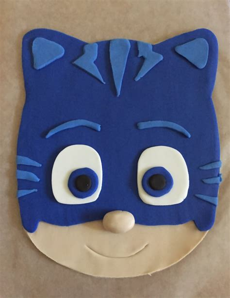 pj masks template pj masks inspired cake topper catboy