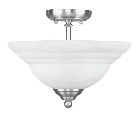 nickel semi flush ceiling lights livex northport brushed nickel semi flush mount ceiling
