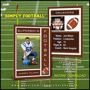 2017 football sports trading card template for photoshop With soccer trading card template