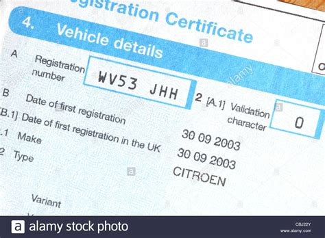 V5c Vehicle Registration Certificate Dvla Car Document