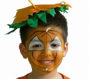 Maquillage D Halloween Pour Fille : trop mignon ce petit maquillage de citrouille pour voir nos tutoriels de maquillage d ~ Melissatoandfro.com Idées de Décoration