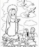 Coloring Fatima Lady Catholic Lourdes Crafts Guadalupe Mother Religious Mary Schools Week Education Rosary Blessed Teaching Religion Coloringhome Children Bible sketch template