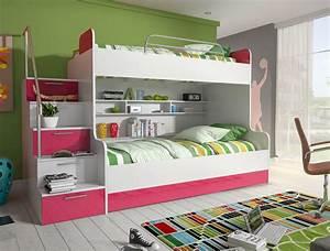 Schreibtisch Zwei Personen : etagenbett kinderbett rose mit seitlicher treppe links amilando m bel ~ Markanthonyermac.com Haus und Dekorationen