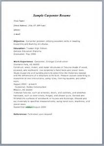 carpenter resume exle carpenter resume exle will