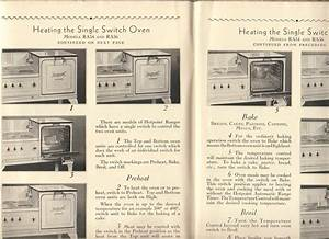 1930s Hotpoint Electric Range Oven Guide Manual