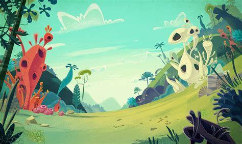 Cartoon Backgrounds On Behance  Backgrounds Pinterest