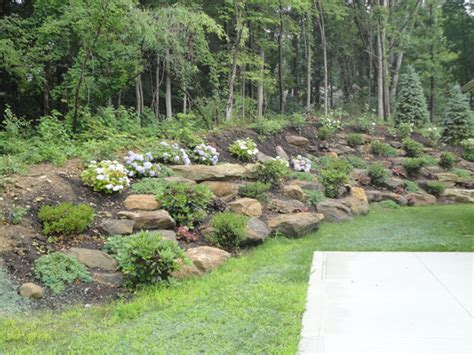 landscape hillside ideas hillside landscaping with rocks garden pinterest