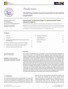 Pdf  Modelling Carbon Sources And Sinks In Terrestrial