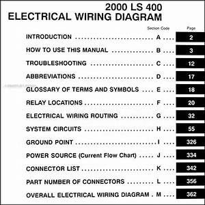 2000 Lexus Ls 400 Wiring Diagram Manual Original